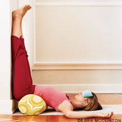 Legs up the wall: yoga poses that restore