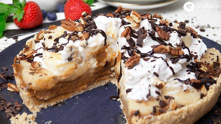 Scrumdiddlyumptious Raw Banoffee Pie
